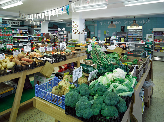 Range of fresh produce for sale at The People's Supermarket