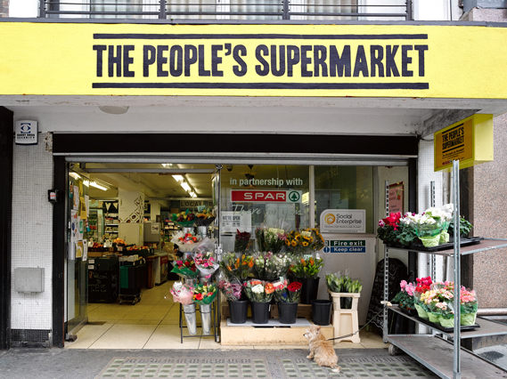 The People's Supermarket in London, which also runs The People's Kitchen