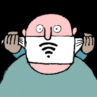 Illustration for a New York Times article on online censorship in China