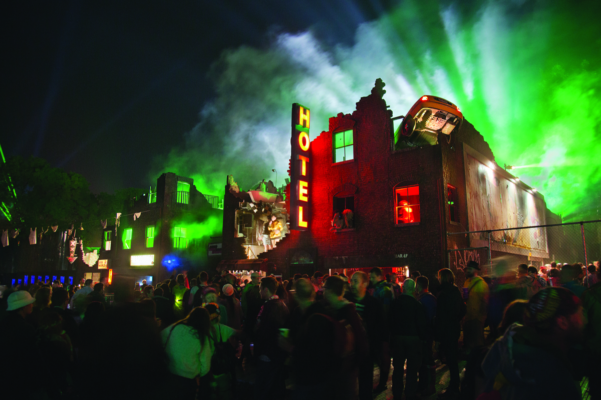 Afterhours venue The NYC Downlow at Glastonbury Festival's Block9 field