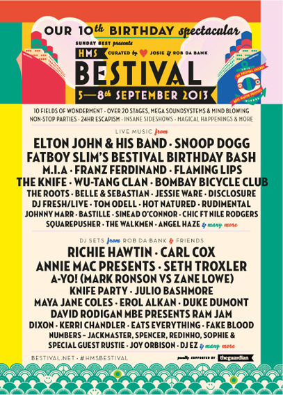 Poster for 2013's HMS Bestival show