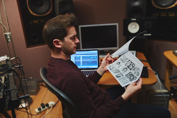 Dovier and the band at work on the gif novel