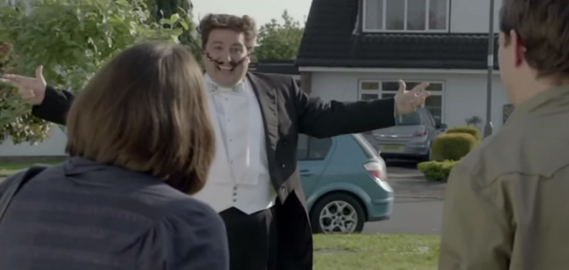 Go Compare's opera singer Gio Compario in a 2012 spot for the brand by agency Dare