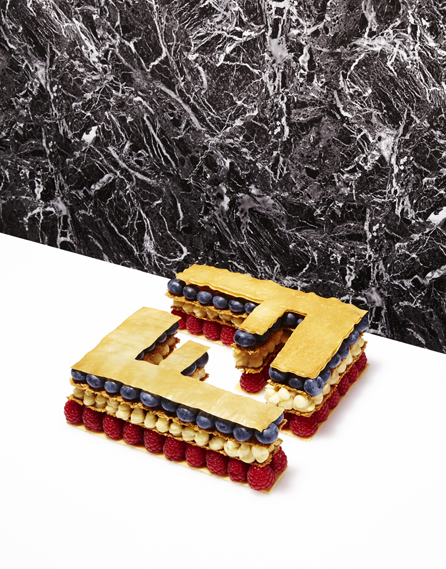 Fendi mille-feuille, for Cherry Bombe magazine, with food styling by Iain Graham and photography by Catherine Losing