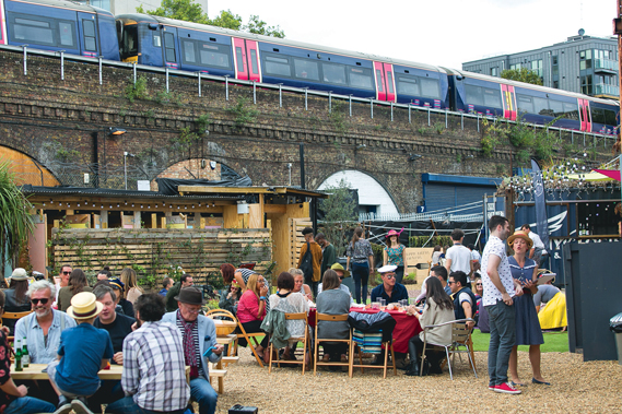 As well as dinner-dances, the Disappearing Dining Club also hosts picnics in the summer. The above picnic was at The Paperworks in Southwark, London. (Photo: Devin Ainslee)