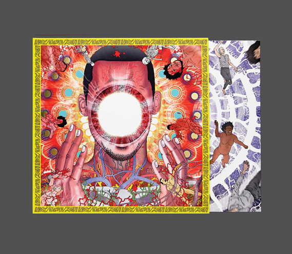 Special edition vinyl of You're Dead, featuring artwork by Japanese manga artist Shitaro Kago. The imagery was also used to create an animated album teaser and visuals for Flying Lotus's You're Dead tour, animated by David Wexler and John King (Timeboy)