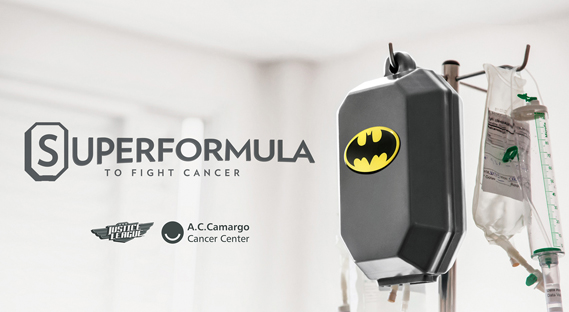 Covers for intravenous bags in the Superformula project were based on characters from the Justice League