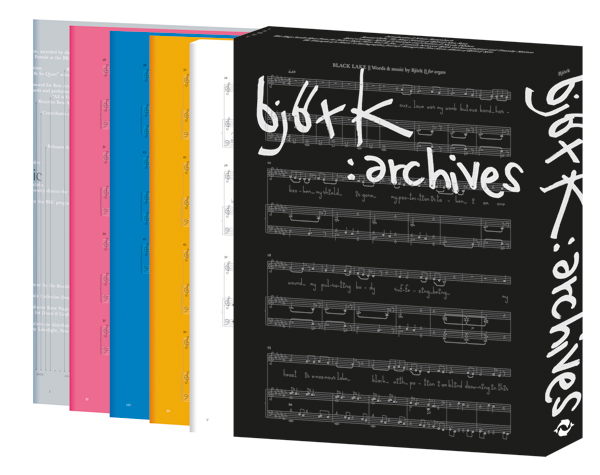 Archives consists of five individual books housed in a slipcase