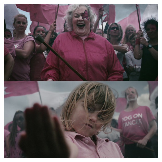 Stills from Cancer Research UK's most recent Race for Life ad. Agency: Mother London. Director: The Sacred Egg