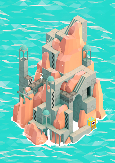 Each level is designed to work as a piece of art in its own right - the studio has even launched a range of art prints depicting the different levels, available to buy at monumentvalleygame.com