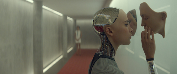 Ava, the female AI robot in Ex Machina was developed by visual effects studio Double Negative under the direction of overall VFX supervisor, Andrew Whitehurst. (Ava is played by Alicia Vikander.)