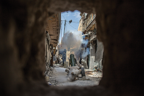 Photo taken during the making of Ghosts of Aleppo, an hour-long doc by Frederick Paxton filmed in 2014 when Vice News was embedded with the Islamic Front in Syria for two weeks