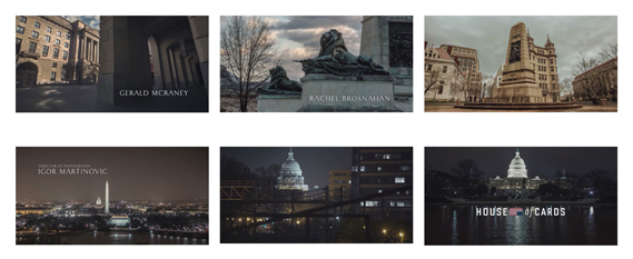 House of Cards (2013) TV titles (Netflix). Dir. of photography: Drew Geraci