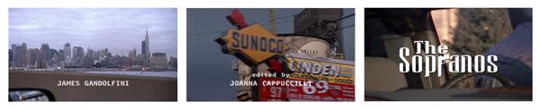 Sopranos (1999) TV titles (HBO). Dir.: Allen Coulter. Logotype: Brett Wickens. Cinematographer: Phil Abraham