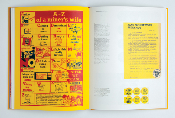 A–Z of a Miner's Wife poster by Dawn Hampson, Janine Head and Maureen Ward and Kent Miners Wives Speak Out booklet
