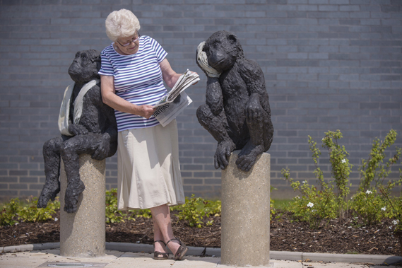 Works by Laura Ford at Bristol's Southmead Hospital, part of a public art programme by consultants Willis Newson