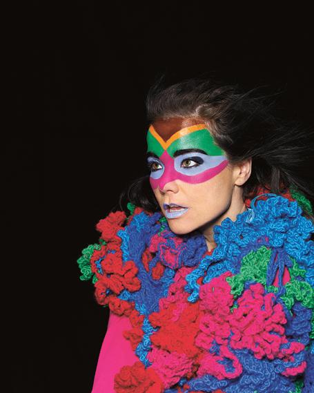 Photo shoot for Volta, 2007, featuring mask make-up by Andrea Helgadottir, photograph by Bernhard Kristinn