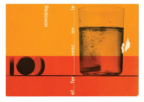 Roche ad, Aldo Calabresi for Studio Boggeri, photo by Sergio Libis, 1959