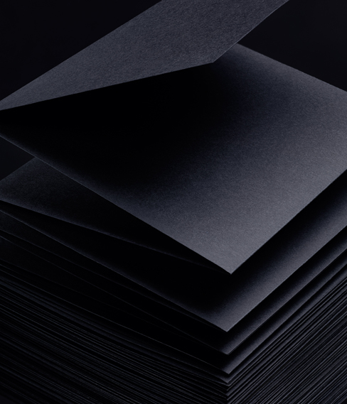 Earth features Virgin Pulp Black 120gsm. All by Arjowiggins Creative Papers