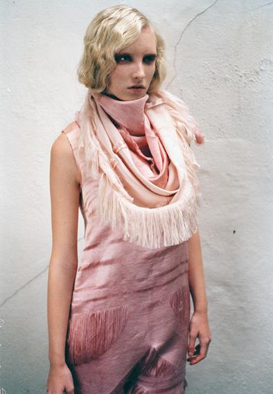 Hemp satin dress by Miriam Rhida, another winning design, from the 2011 Fashioning the Future Awards (photo: Tomer Halfon/LCF/CSF)
