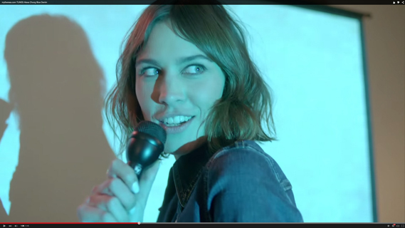 Gia Coppola directs Alexa Chung in the video for her cover of Stevie Nicks' Blue Denim, promoting her collection Alexa Chung for AG, via mytheresa.com