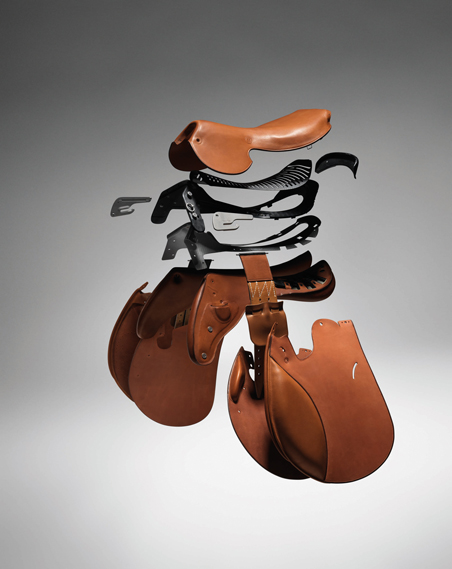 Hermes combines 'heritage' with technological innovation, such as the titanium and carbon 'tree' used in its Talaris saddle