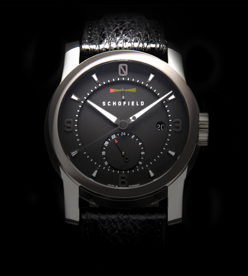 Schofield's Signalman watch, inspired by the design of British lighthouses. See schofieldwatchcompany.com