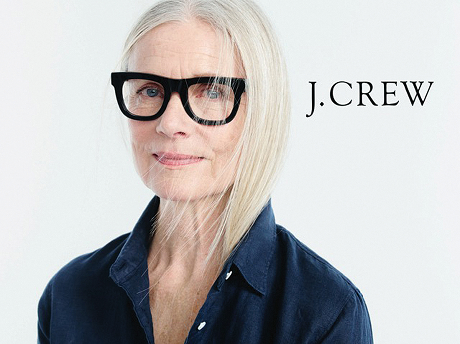 Pia Gronning in ad for J Crew. All models represented by Mrs Robinson Management, mrsrobinson management.co.uk
