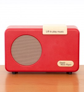 MP3 player designed in collaboration with Bath Institute of Medical Engineering for people with dementia