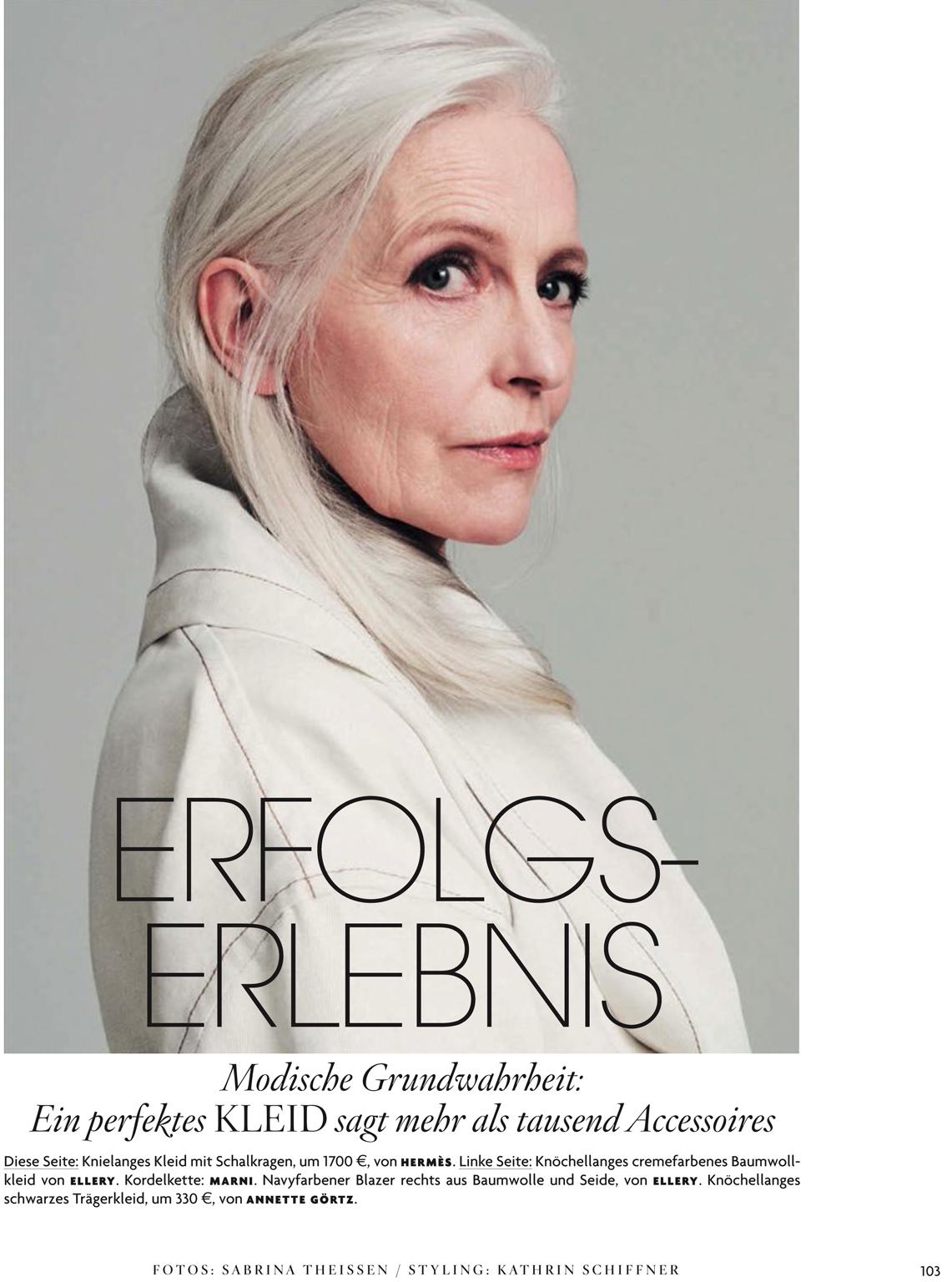 Editorial from Vogue Germany featuring model Anna Von Rueben Droginska. Photog-raphers: Sabrina Theissen, Raphael Elicha