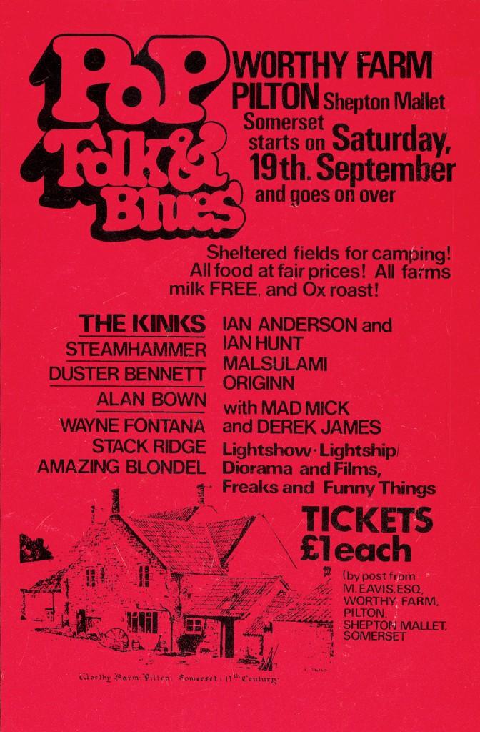 Poster from the 1971 festival (image: Glastonbury Festival/V&A)
