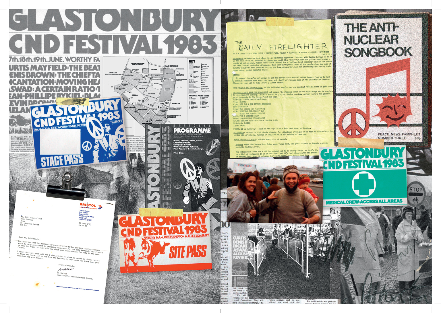 Page from the 40th anniversary scrapbook