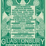 Poster from the 1982 festival (image: Glastonbury Festival/V&A)