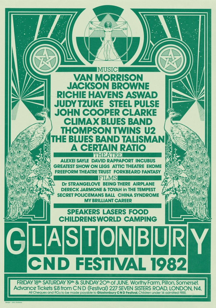Poster from the 1982 festival (image: Glastonbury Festival/V&A)