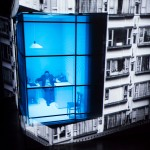 Es Devlin's set design for Chimerica, produced by Headlong and the Almeida theatre. Images and video are projected on to a giant rotating cube, transporting viewers between America and China