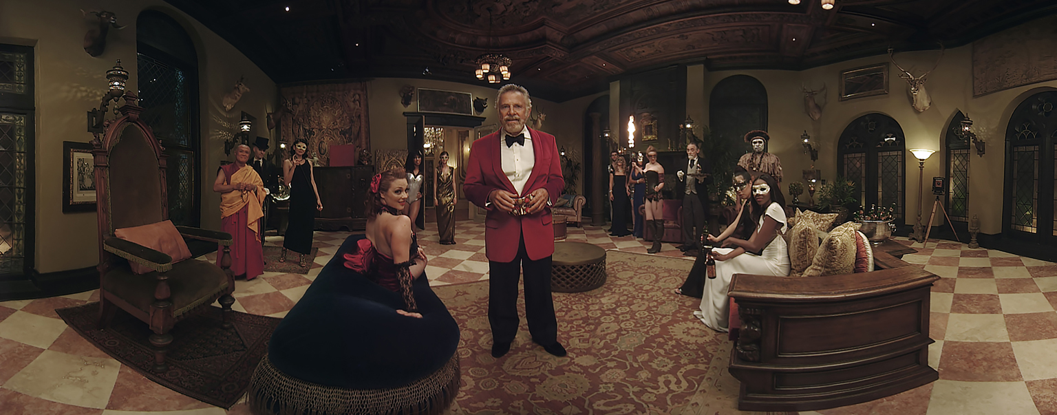 In Mssng Peces' Masquerade VR project for Dos Equis, The World's Most Interesting Man invites you to look around his party. Agency: Havas Worldwide. mssngpeces.com