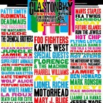 Poster from the 2015 festival (image: Glastonbury Festival/V&A)