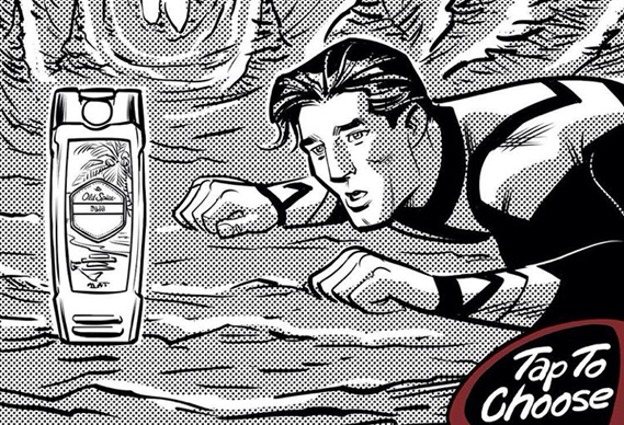 crop_0.jpg - Old Spice invites Instagrammers to choose their own adventure in comic book-style campaign - 7471
