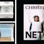 Left: Front and back of a private view invite for London-based non-profit the Delfina Foundation, 2012. The logo was designed by Spin in 2011. Right: March/April 2014 edition of Christie's magazine, designed for the auction house by Spin. The cover features Ernesto Neto shot by Spencer Murphy