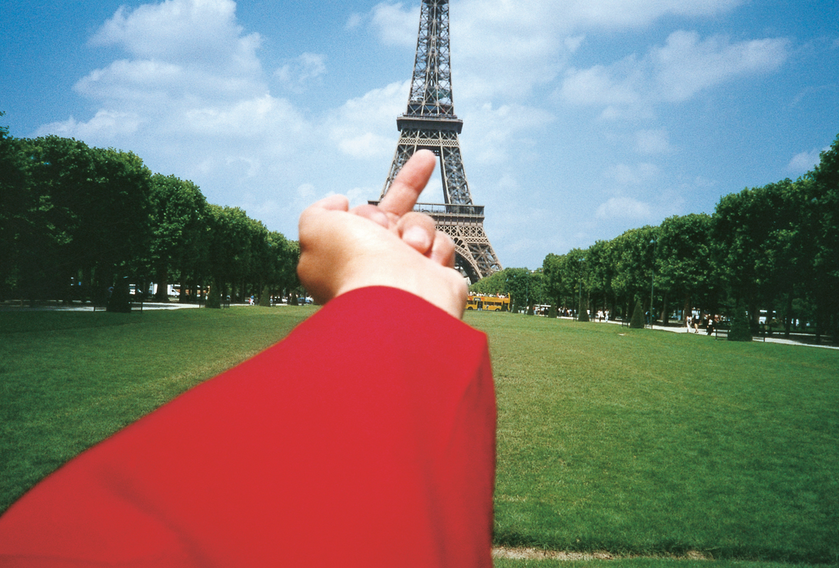 Study of Perspective – Eiffel Tower by artist Ai Weiwei, China, 1995-2003. From Visual Impact (Phaidon, 2015)