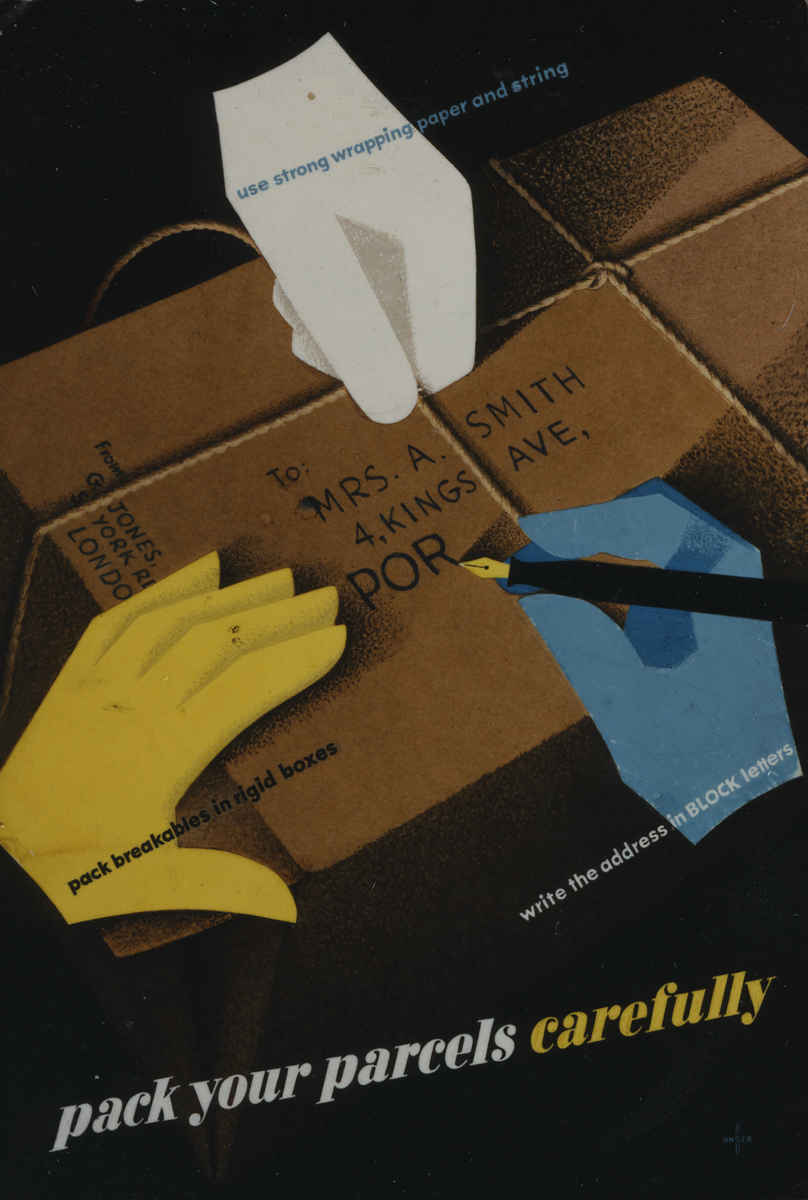 Pack Your Parcels Carefully © Royal Mail Group Ltd, 1949. Courtesy of the British Postal Museum & Archive