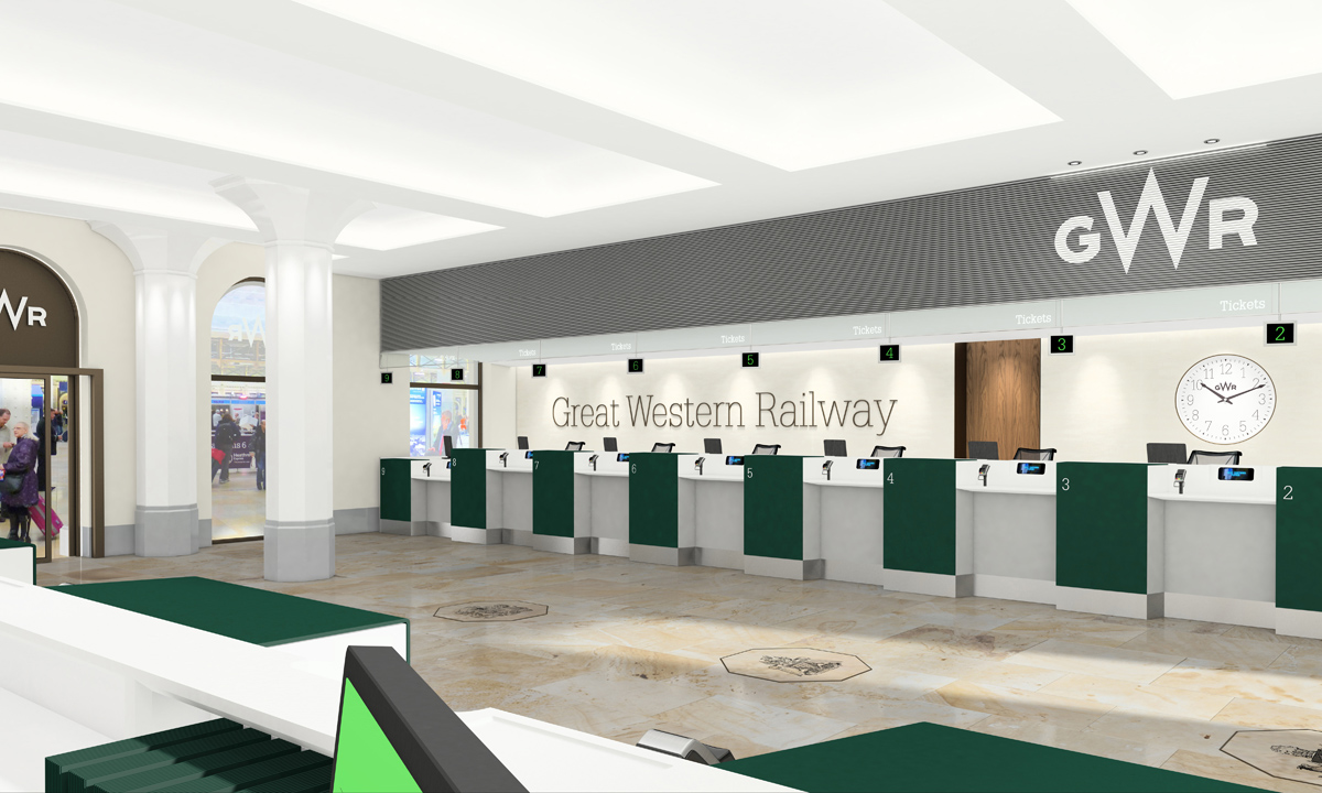Paddington ticket office (render)
