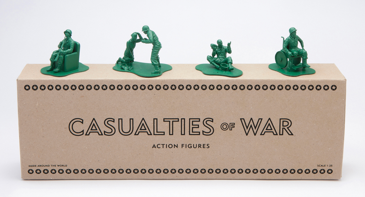Casualties of War, action figures designed by Manchester-based collective Dorothy, UK, 2012. From Visual Impact (Phaidon, 2015)