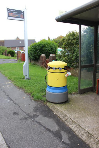 Minion bin. Photo by Daniel Moon