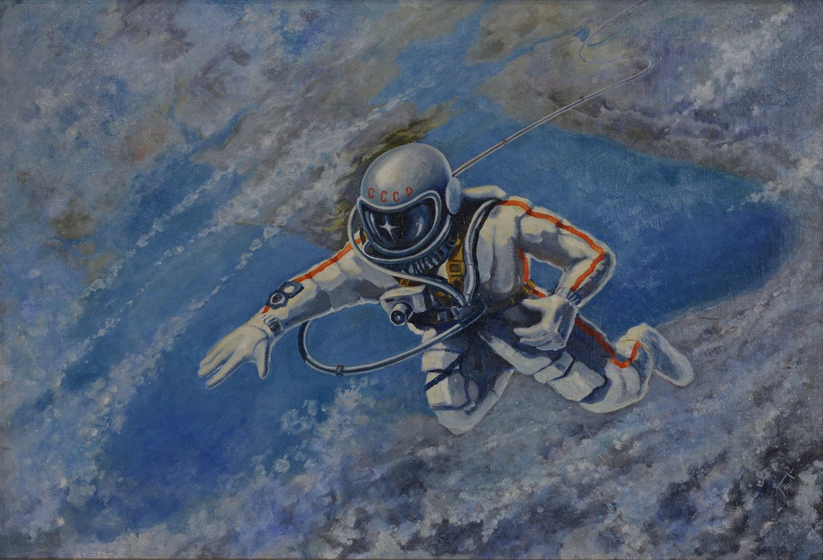 Alexei Leonov, Over the Black Sea, 1973. c. The Memorial Museum of Cosmonautics
