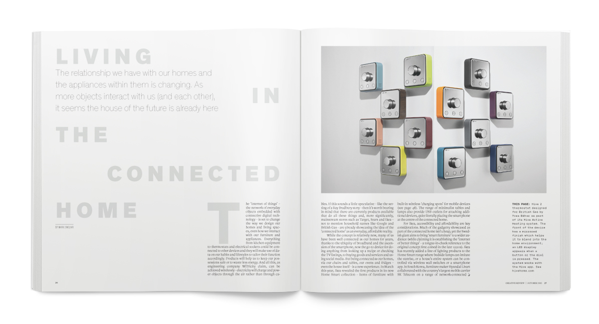 Creative Review October Home issue: the Connected Home