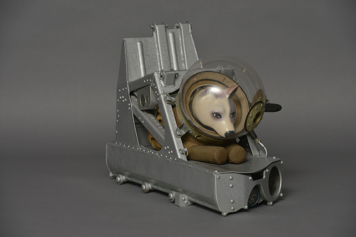 Dog ejector seat and suit, ca. 1955. c. Zvezda. Photo c. State Museum and Exhibition Centre ROSIZO
