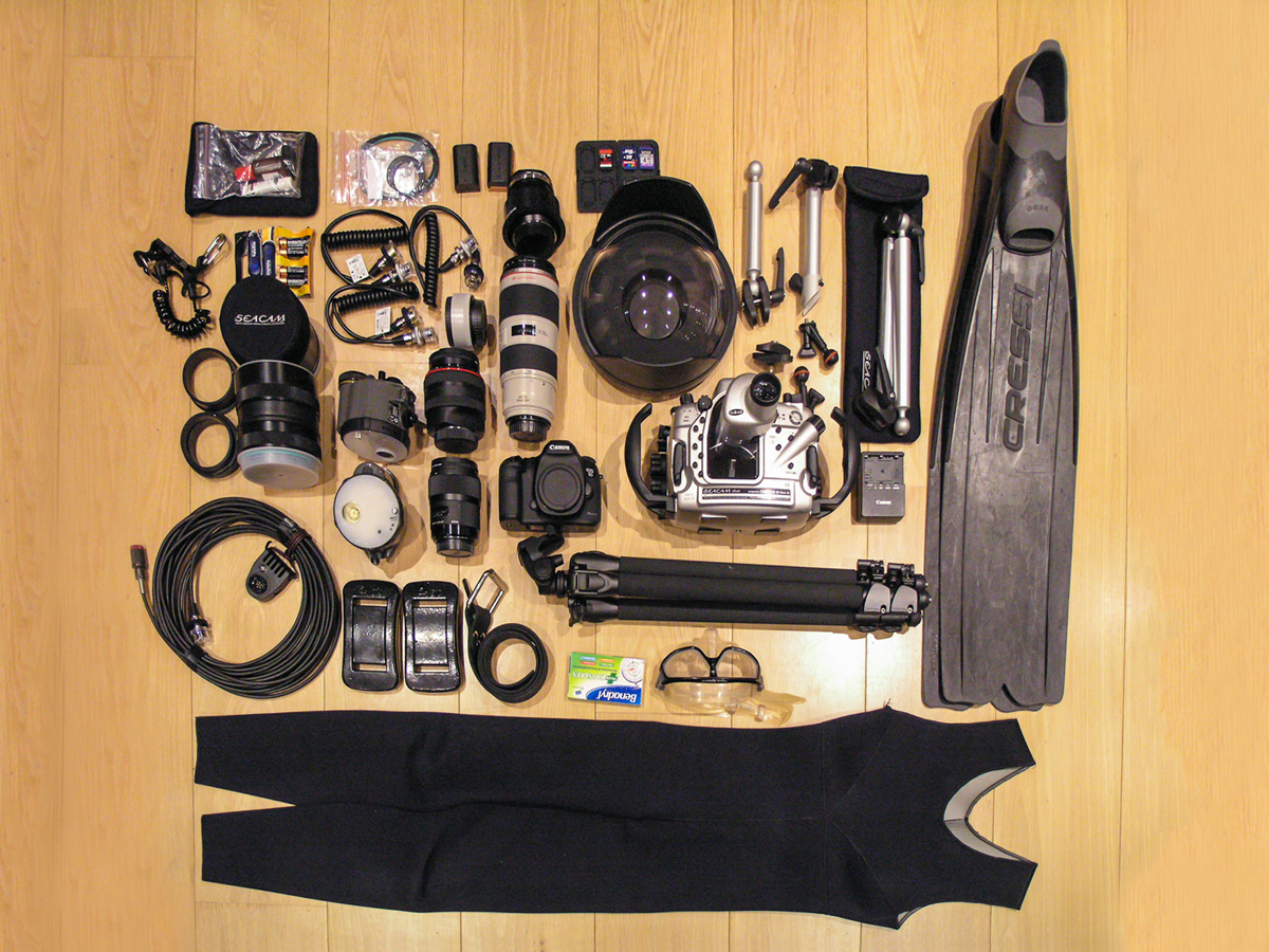 Almeida's underwater kit