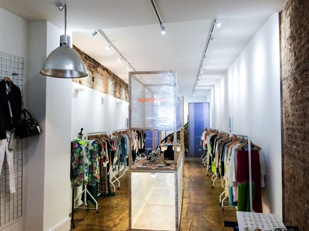 Glassworks multi-brand womenswear shop in Shoreditch, London is available to concessions from accessories brands to chocolatiers