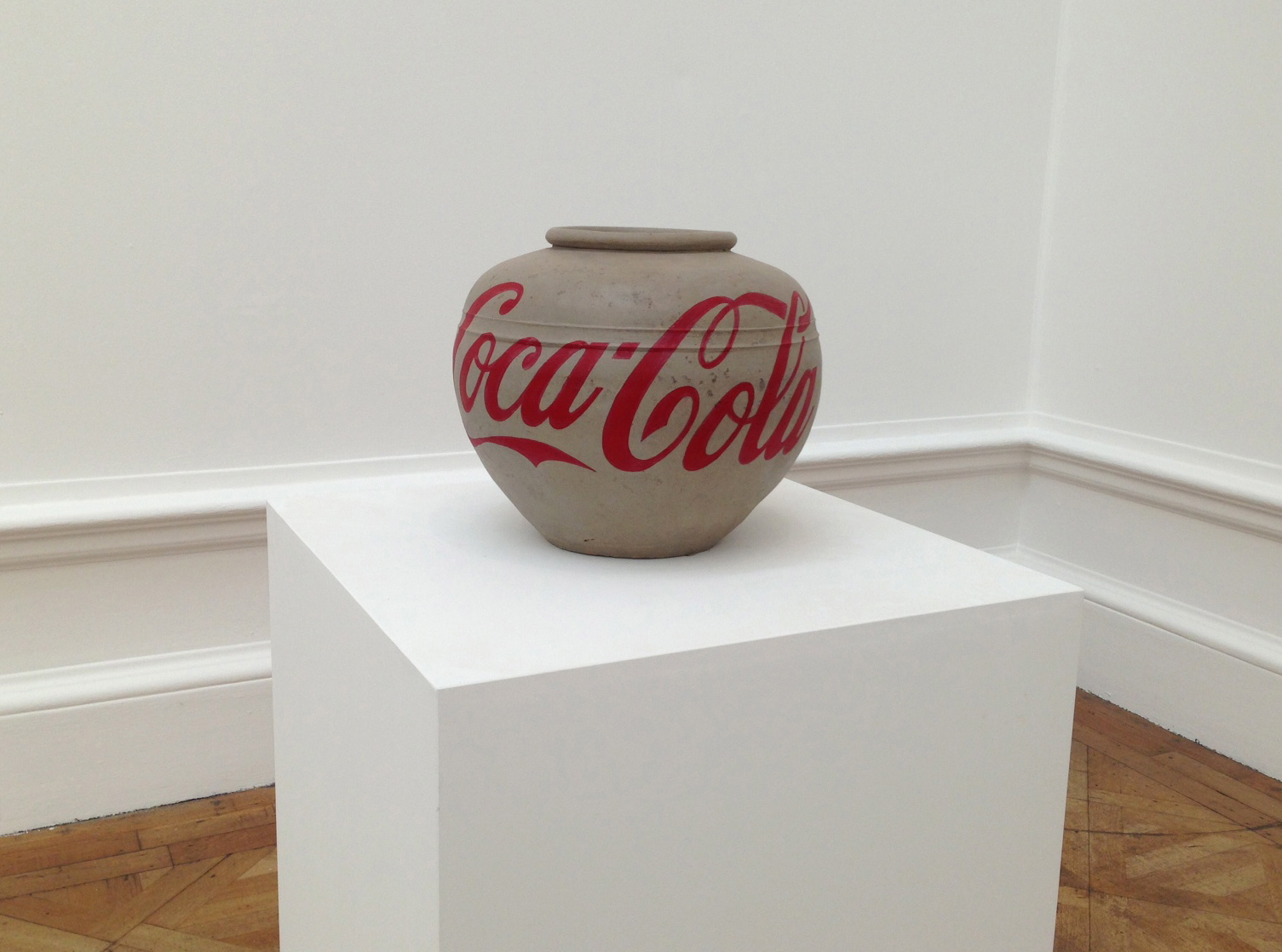 Coca-Cola Vase, 2014. Han Dynasty (206 BC-220 AD), vase with paint